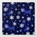 Dark Blue Snowflakes by hlehnerer