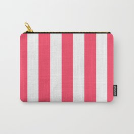 Magic Potion fuchsia - solid color - white vertical lines pattern Carry-All Pouch