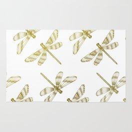 Golden Dragonflies Rug