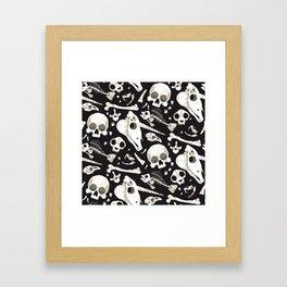 black Skulls and Bones - Wunderkammer Framed Art Print