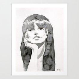 Watercolor Girl V Art Print