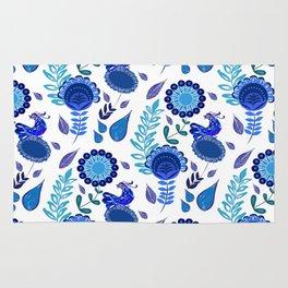 Blue Garden Rug