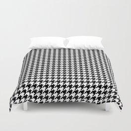 Monochrome Black & White Houndstooth Duvet Cover