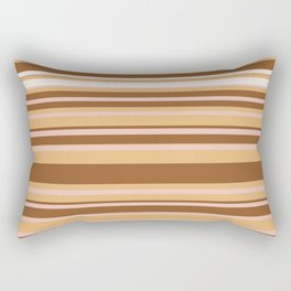 Coffee color stripes Rectangular Pillow