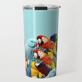 Sky blue parrots home decor Travel Mug