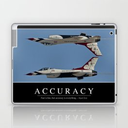 Accuracy: Inspirational Quote and Motivational Poster Laptop & iPad Skin