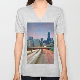 Chicago 02 - USA Unisex V-Neck