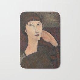 "Amedeo Modigliani ""Adrienne (Woman with Bangs)"" (1916) Bath Mat"