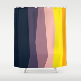 Stripes: Sunset Shower Curtain