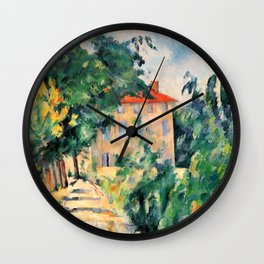 "Paul Cezanne ""House with red roof"", 1890 Wall Clock"
