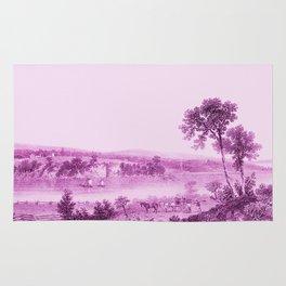Lake Champlain & Fort Ticonderoga Ruins (wine) Rug