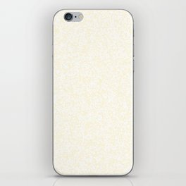 Tiny Spots - White and Cornsilk Yellow iPhone Skin