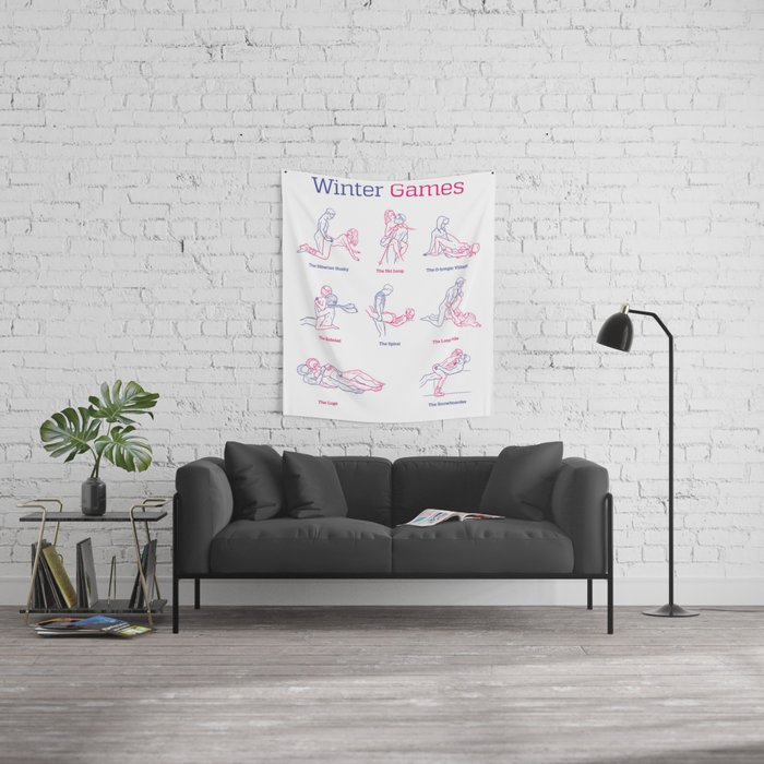 Winter Games Wall Tapestry