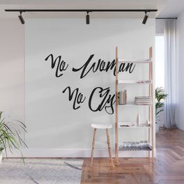 """No woman no cry"" pattern Wall Mural"