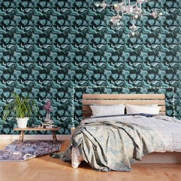 Amazonite marbled pattern Wallpaper