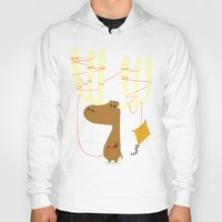 budi Hoodies featuring A moose ing by Picomodi