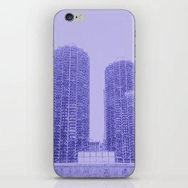 Marina Towers - Chicago - Purple iPhone Skin