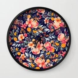 Bright Floral Wall Clock