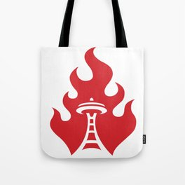 Seattle Riot   Flame Tote Bag