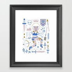 The Warrior Framed Art Print