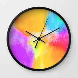 Color Brust Wall Clock