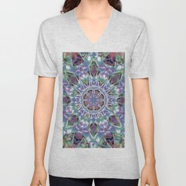 Abstract Flower AA YY QQ Unisex V-Neck