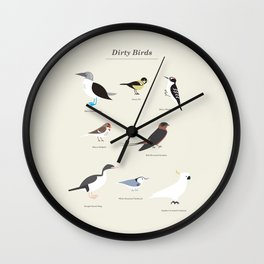Dirty Birds Wall Clock