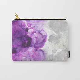 Alcohol Ink Amethysta Carry-All Pouch