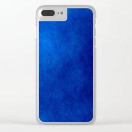Misty Deep Blue Clear iPhone Case