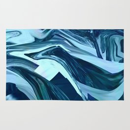 Turquoise + Teal Marble Rug