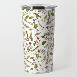 Greenery Floral Pressed Flowers Travel Mug
