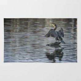 Double-Crested Cormorant Landscape Rug