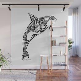 Tribal Orca Wall Mural