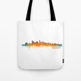 Vancouver Canada City Skyline Hq v02 Tote Bag