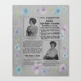 26th Convention of the Kentucky Equal Rights - 1900 Canvas Print
