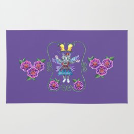 Angel Kitty (Purple) Rug