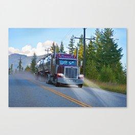 Trans Canada Trucker Canvas Print