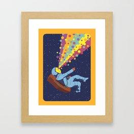 Rainbow Space Framed Art Print