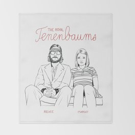 The Royal Tenenbaums (Richie and Margot) Throw Blanket