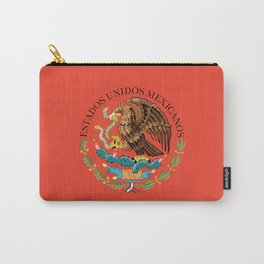 Mexican seal on Adobe red Carry-All Pouch