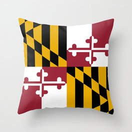 Maryland State Flag, Hi Def image Throw Pillow