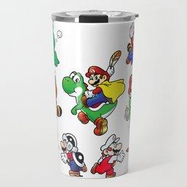Old School Marios Travel Mug