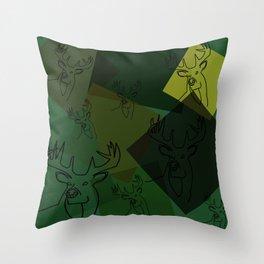 Buck Collage Throw Pillow