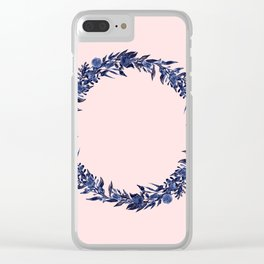 Dawn of Flowers, Blue Willow. Clear iPhone Case