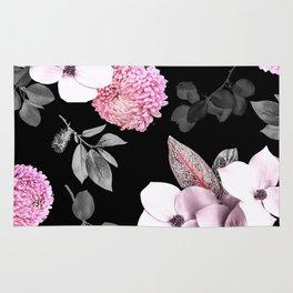 Night bloom - pink blush Rug