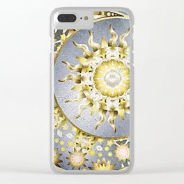 Golden Moon and Sun Clear iPhone Case