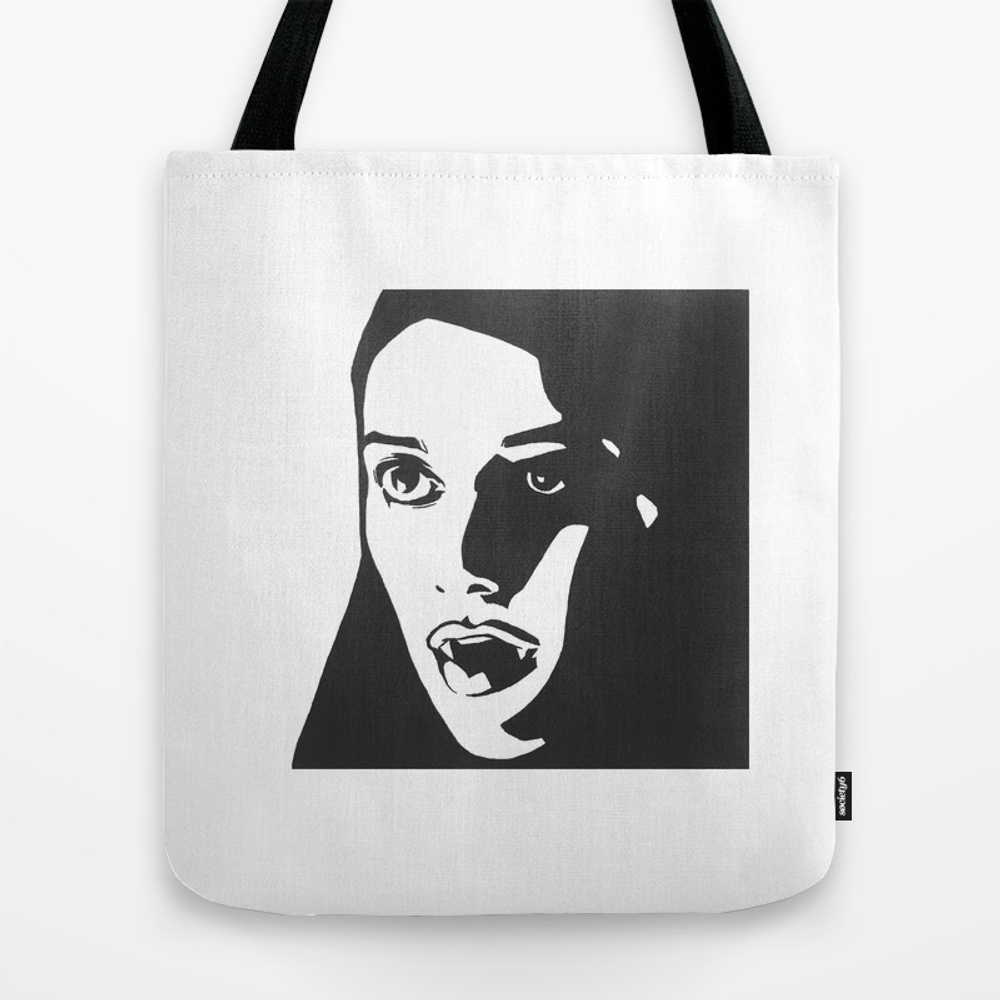 A Girl Walks Home Alone At Night Tote Bag by Hannahchrist TBG9088594
