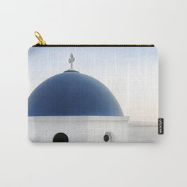 Santorini White and Blue Church View Carry-All Pouch