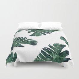 Banana Leaf Watercolor #society6 #buy #decor Duvet Cover