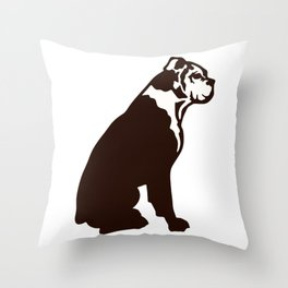 Buddy the boxer Throw Pillow